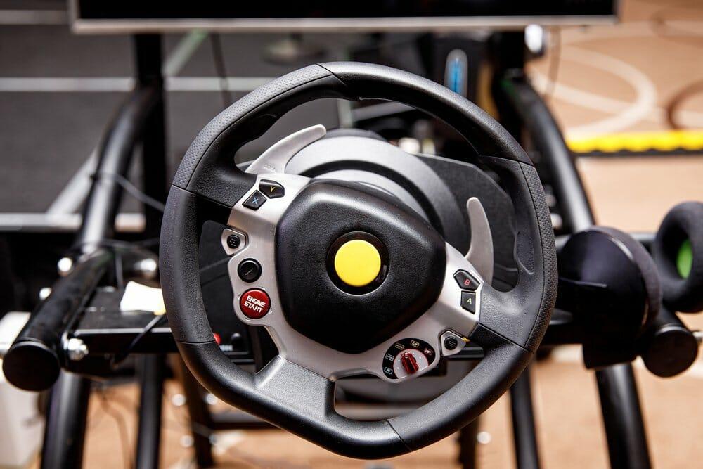 Cheap steering wheel for racing simulator