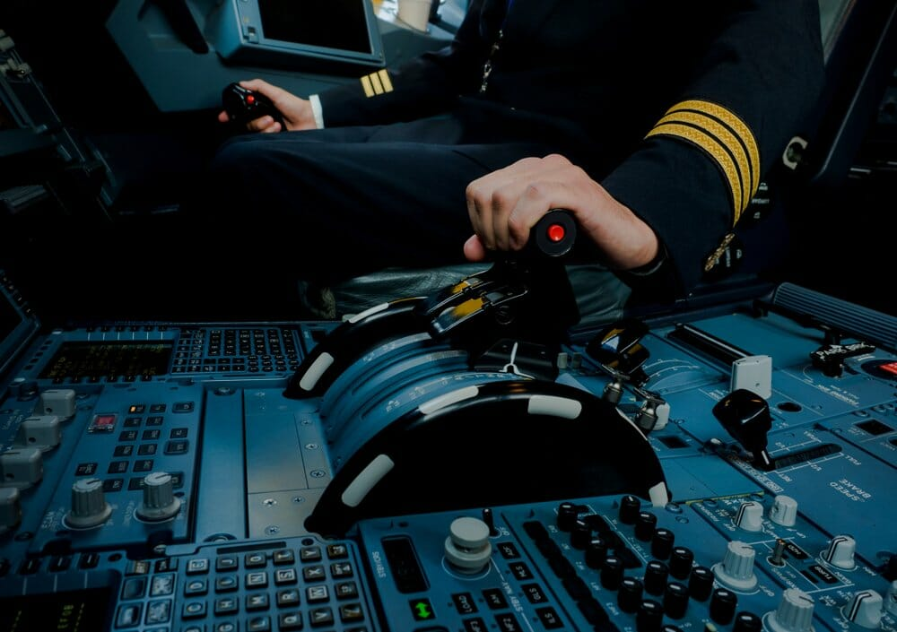 Throttle in Flight Simulator