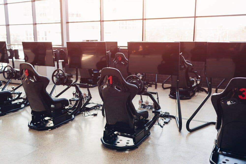 Gaming seats for racing simulators