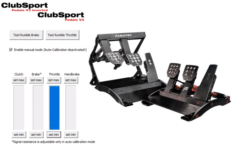 ClubSport V3 Pedals Function Test